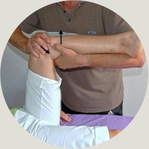 Kniegelenk Korrektur Dorn Methode
